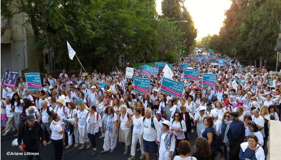 איך תנועת נשים עושות שלום הוציאה לרחובות שלושים אלף איש ואישה